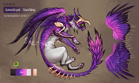 [CLOSED] Animated adopt - Amethyst Starling
