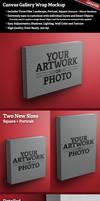 Canvas Gallery Wrap Mockup by SingleHandedStudio