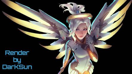 Mercy ART By Tsuaii Render By DarKSun by DarKSunElite