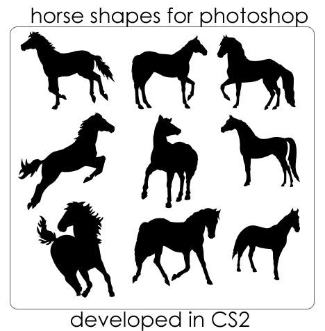 Horse Photoshop Shapes