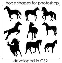 Horse Photoshop Shapes by ecovers