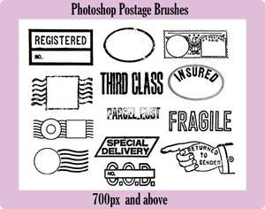 Photoshop Postage Brushes