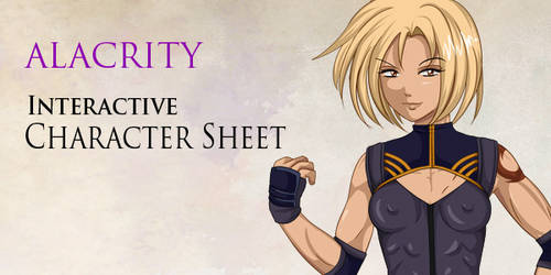 Alacrity Character Sheet Commission by Bastet-sama