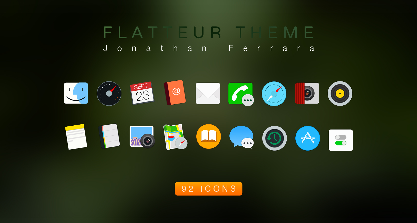 Flatteur Theme - Mac OS X Icon Pack by John-Ferrara on