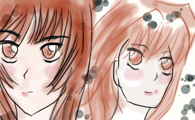 Teana and Anzu by SkyexJill