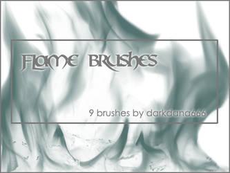 Flame brushes by darkdana666