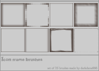 Frame brushes for icons by darkdana666