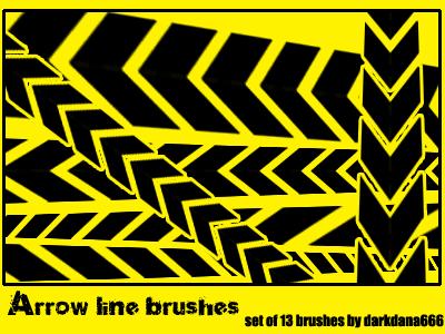 Arrow line brushes by darkdana666