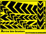Arrow line brushes