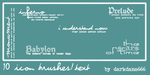 Text brushes by darkdana666