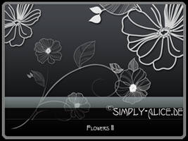 Flowers11 - PS Brushes by crazy-alice