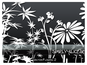 Vector-Flowers 2 -PS Brushes by crazy-alice