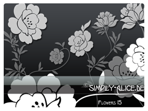 Flower 15  PS Brushes by crazy-alice