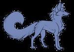 *Fixed* Wolf line art