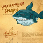 Vector shark tutorial by davidwehmeyer