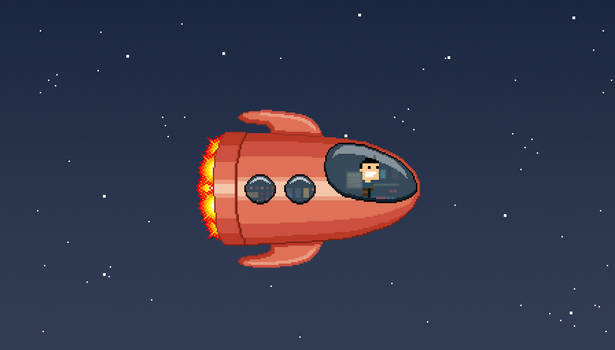John in spaceship
