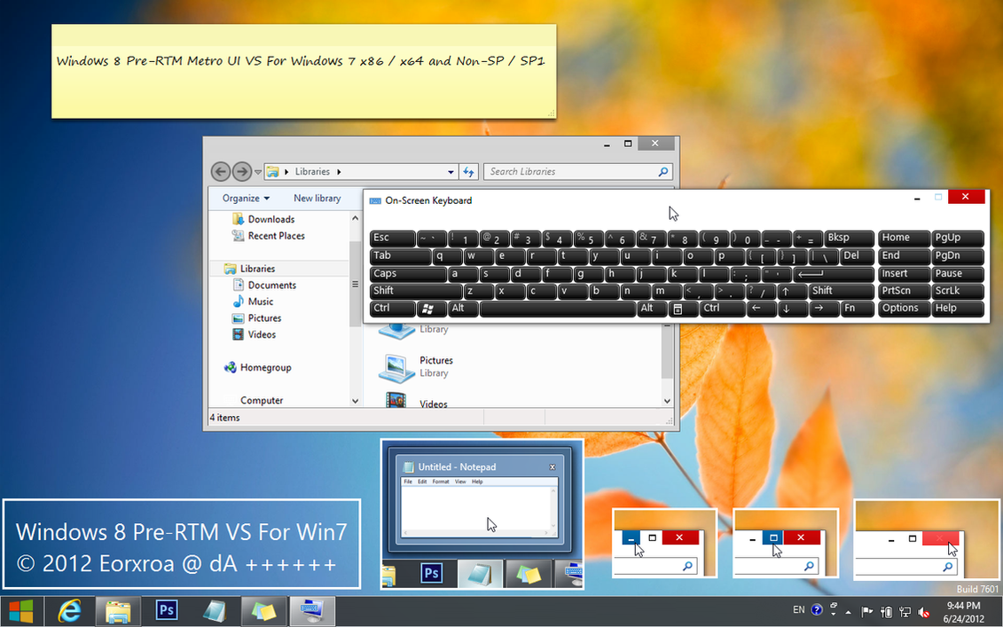 Windows 8 Pre-RTM Metro VS For Windows 7 by Eorxroa