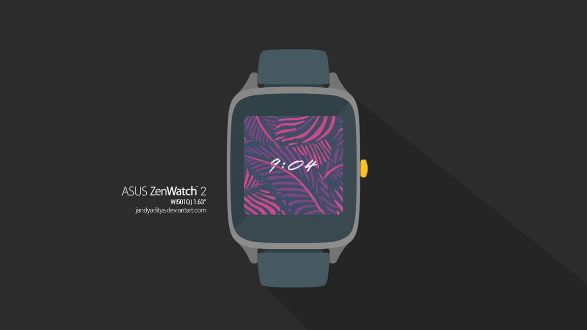 Asus Zenwatch 2 (WI501Q) - Flat Mockup by jandyaditya