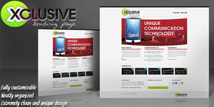*FREE Xclusive Landing Page Psd Template