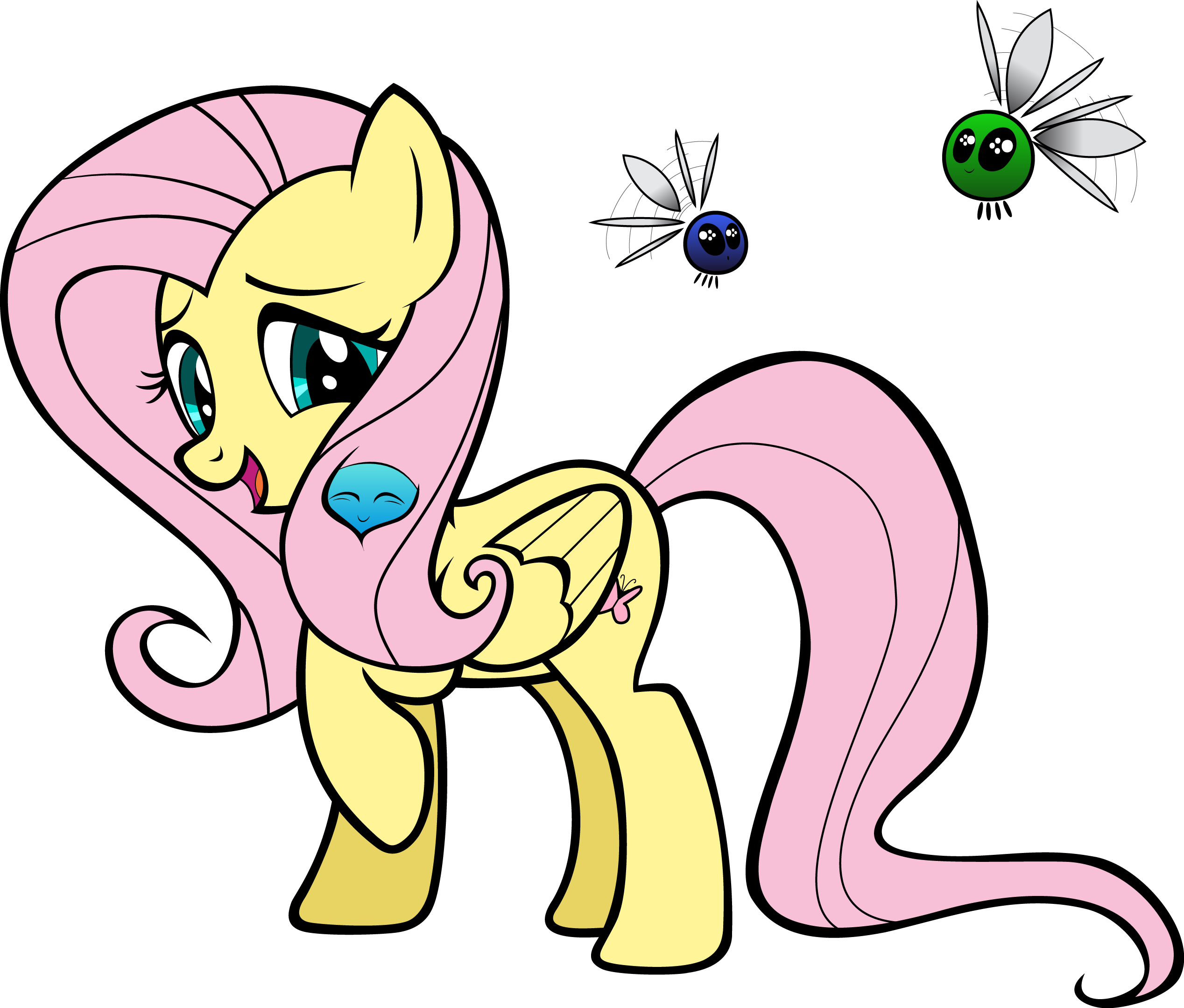 Fluttershy coloring page vector by comicalbrony on deviantart for Coloring pages of fluttershy