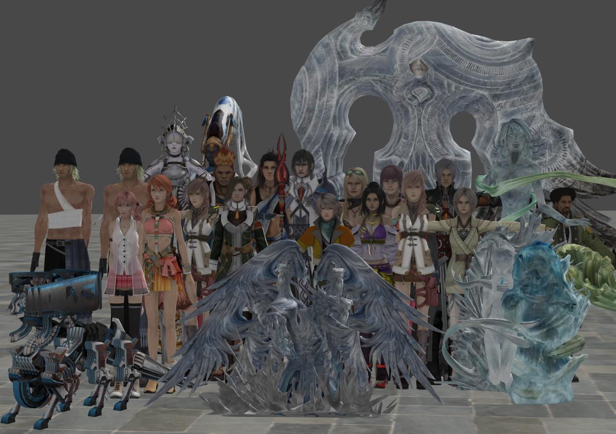 xnalara fnl fantasy 13 model 1 by twinlightownz