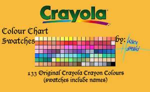 Crayola Crayons - 133 Swatches by Suspiria-Ru