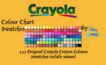 Crayola Crayons - 133 Swatches