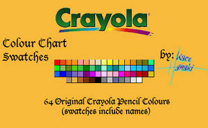 Crayola Pencils - 64 Swatches by Suspiria-Ru