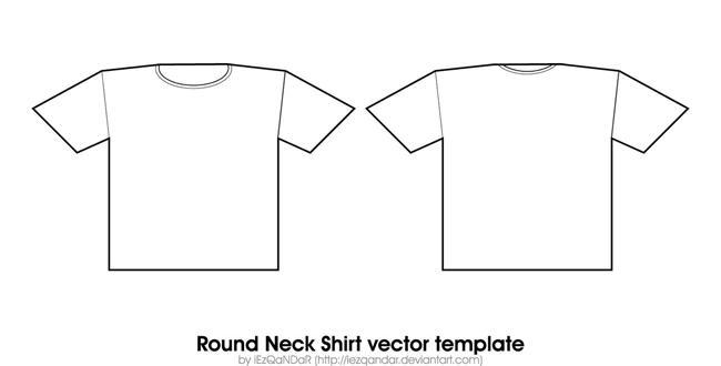 Round Neck Shirt Template by iEzQaNDaR