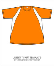 Jersey T-shirt Template by iEzQaNDaR