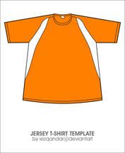 Jersey T-shirt Template by iEzQaNDaR