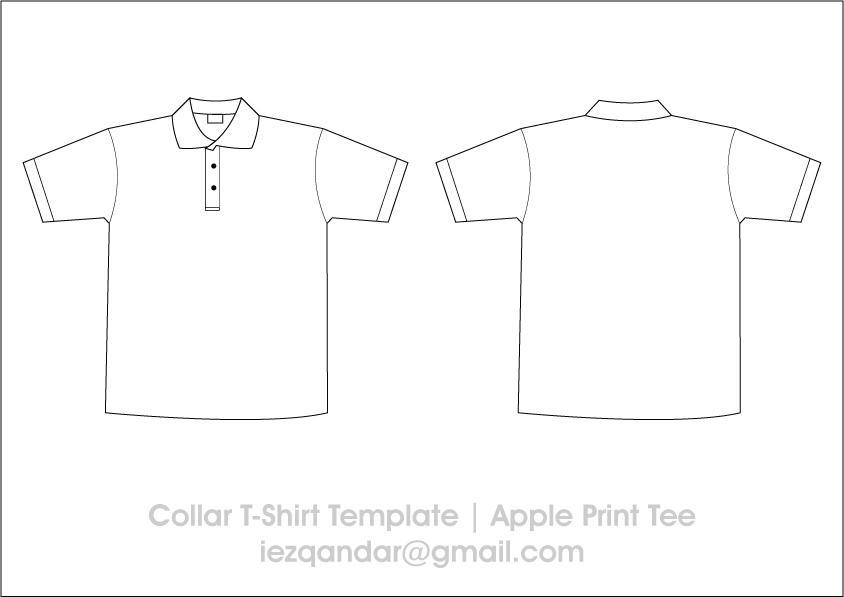 Collar Tee Template by iEzQaNDaR