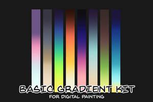 Basic Gradient Kit for digital painting by rejamrejam