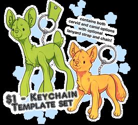 P2U one dollar deer and dog keychain template