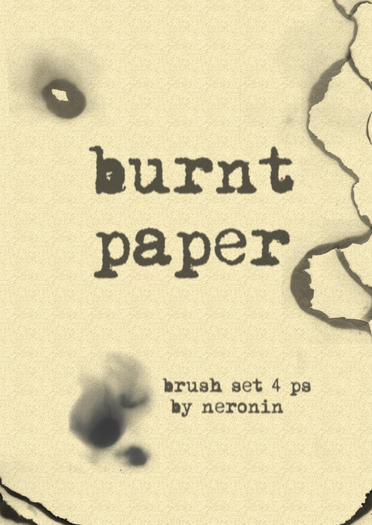 burnt paper brush