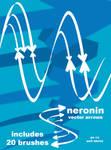 vector arrow brush pack