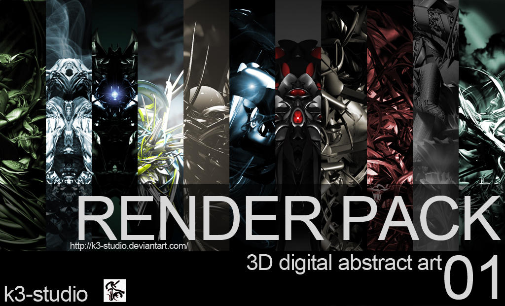 RENDERS 3D Render_pack___01_by_k3_studio