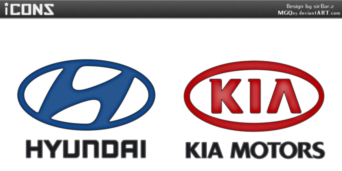 HYUNDAI And KIA MOTORS LOGOS By MGQsy