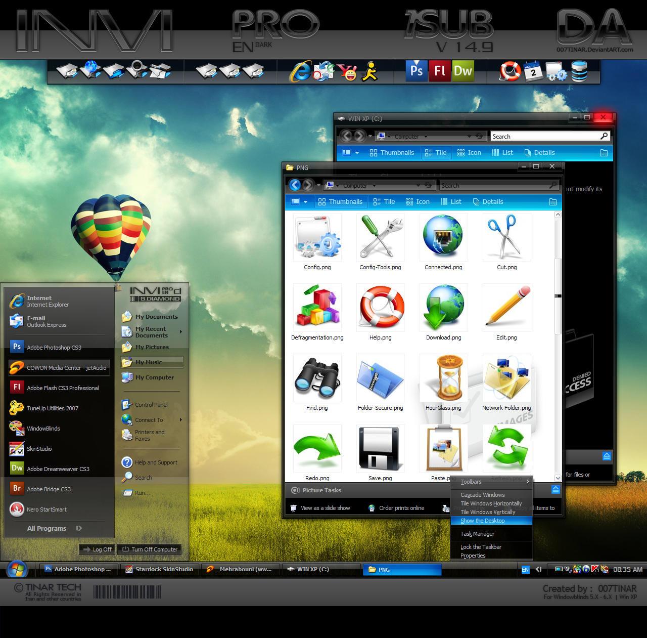 Windows Xp Theme File Software: INVI PRO E.DARK By 007TINAR On DeviantArt