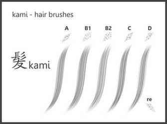 kami_#Hair Brushes_for GIMP