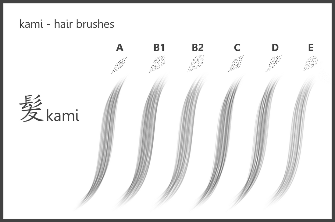 Kami Hair Brushes For Sketchbook Pro By Dev Moon On