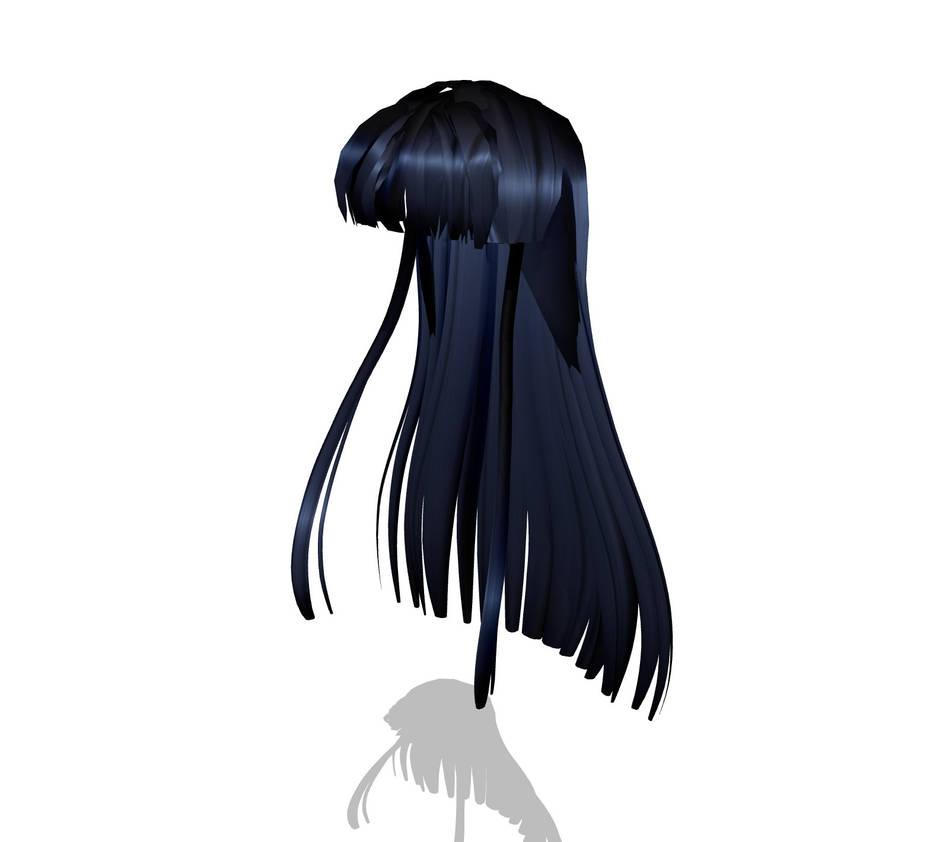 Download Hair: MMD Super Straight Hair By TheGirlNamedSig On DeviantArt