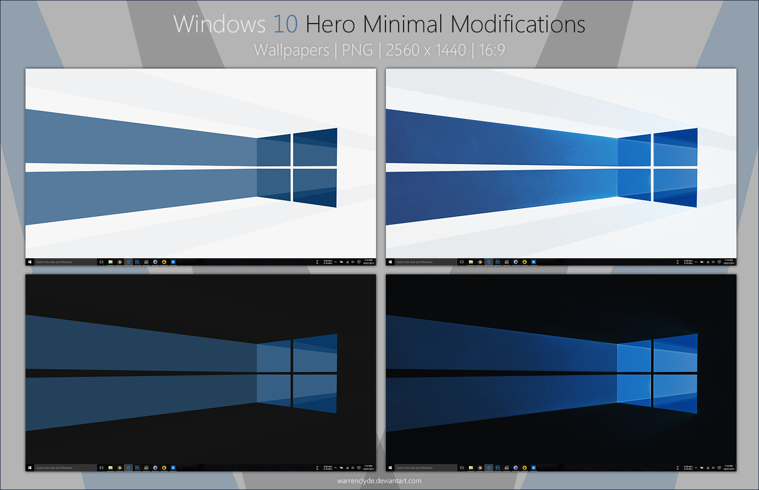 Windows 10 Hero Minimal Wallpapers By Warrenclyde On Deviantart