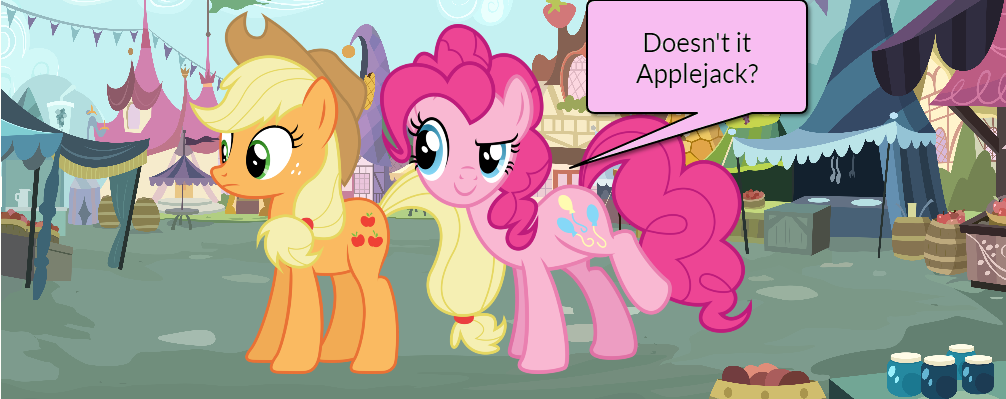 Pinkie Pie and AJ Short Gag Pg. 8 by yoshiegg64