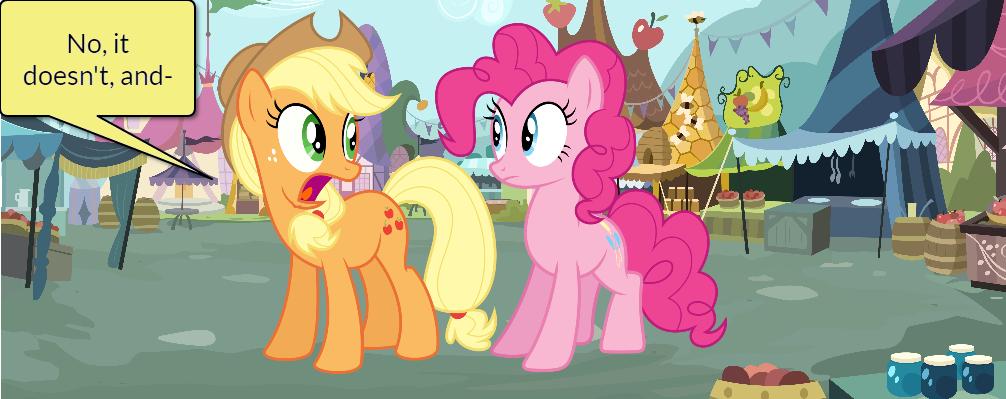 Pinkie Pie and AJ Short Gag Pg. 9 by yoshiegg64