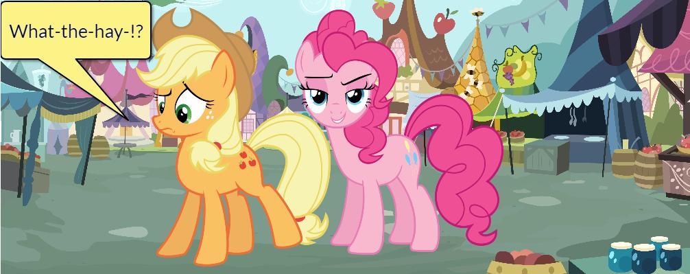 Pinkie Pie and AJ Short Gag Pg. 10 by yoshiegg64