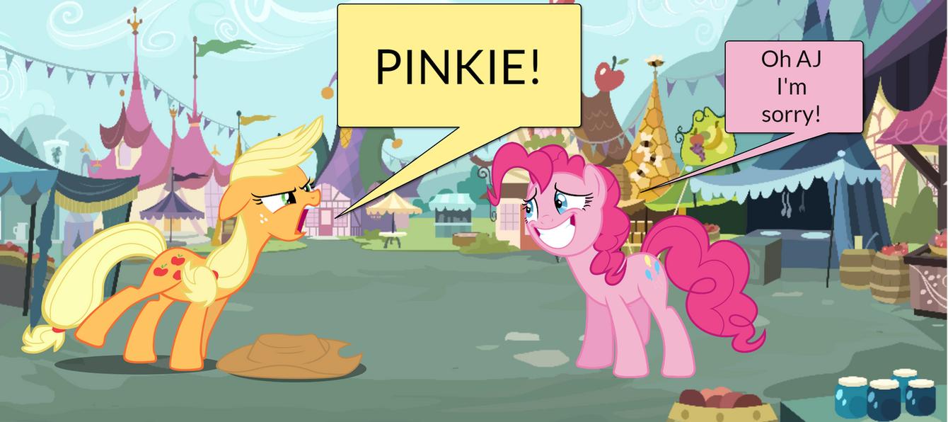 Pinkie Pie and AJ Short Gag Pg. 24 by yoshiegg64