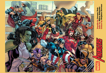 AVENGERS print for HeroesCon by thejeremydale