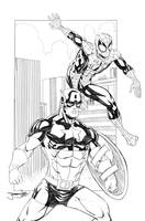 Cap and Spidey for Captain's Comic Expo 2014 by thejeremydale