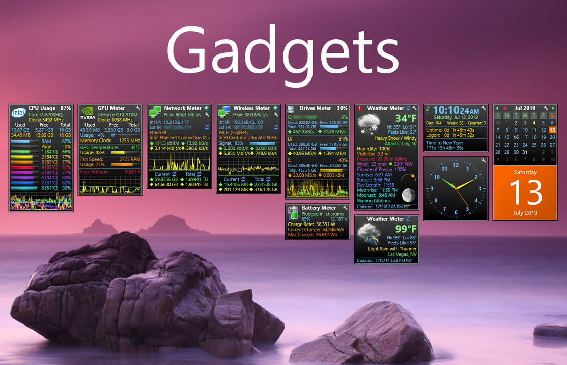 Cpu usage gadget